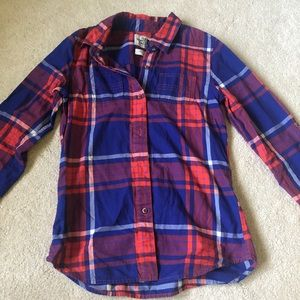 The North Face plaid cotton button down shirt XS